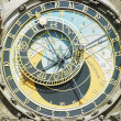 Detail of Horloge, Old Town Hall, Prague, Czech Republic - Stock Photo
