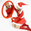 Santa Claus with a mirror - Stock Photo