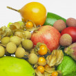 Tropical fruit still life — Stock Photo