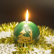Christmas candle — Stockfoto #4398540