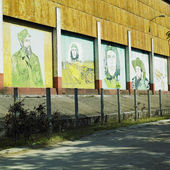 Political mural paintings, Ceiba Hueca, Granma Province, Cuba — Stock Photo