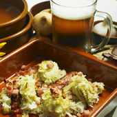 South Bohemian dumplings with cabbage — Stock Photo