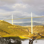 The highest bridge in the world, Millau, France — Stock Photo
