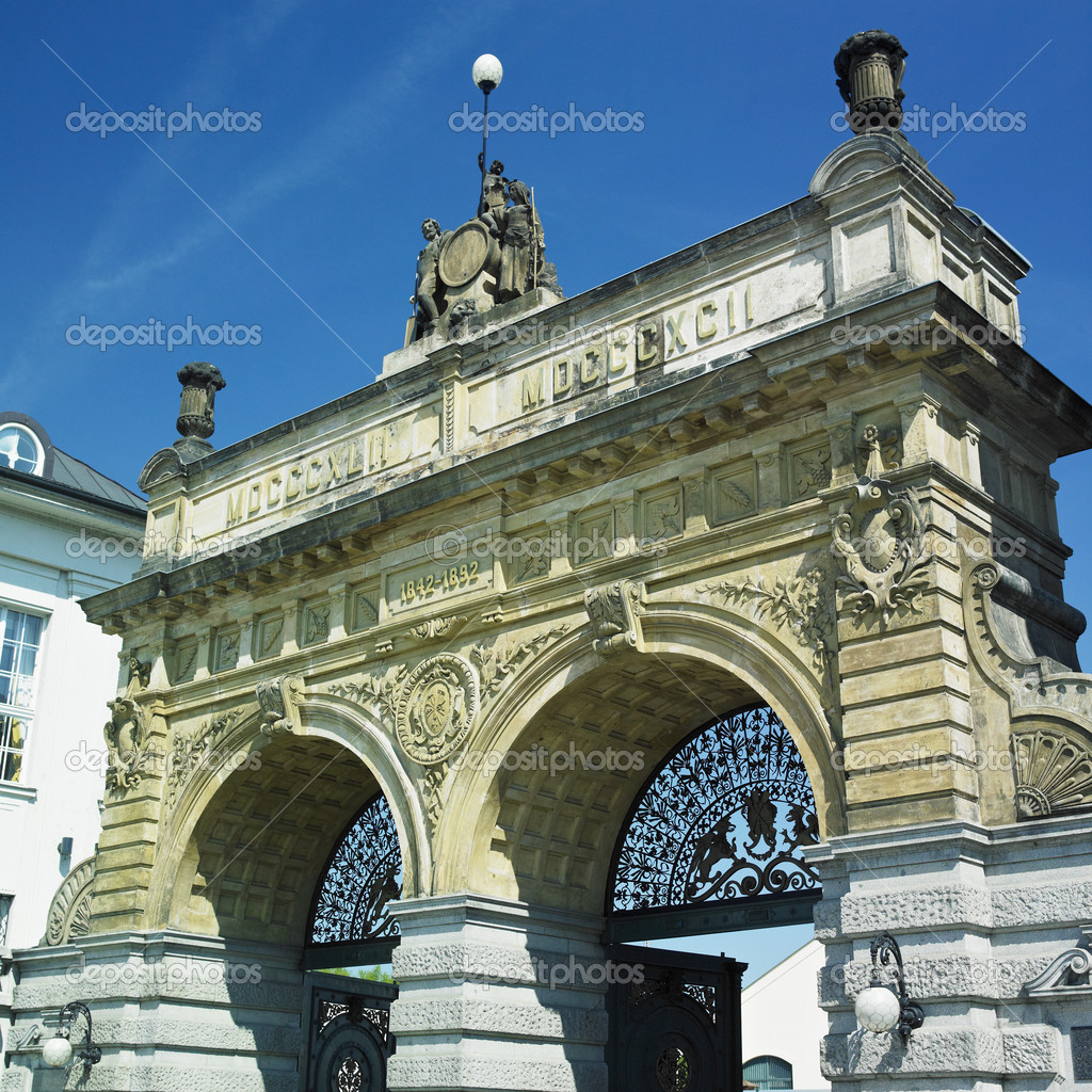 Brewery gate, Plzen (Pilsen), Czech Republic — Stock Photo #4398525