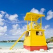 Stock Photo: Cabin on beach, Enterprise Beach, Barbados, Caribbean