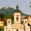 Church of St. Mary, Banska Stiavnica, Slovakia - Stockfoto