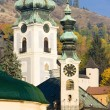Town hall and Old Castle, Banska Stiavnica, Slovakia - Foto Stock