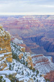 Grand Canyon National Park in winter, Arizona, USA — Stock Photo