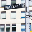 Stock Photo: Wall Street Sign, , New York City, USA