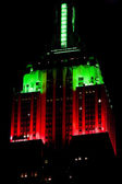 Detail of The Empire State Building, Manhattan at night, New Yor — Stock Photo