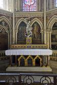 Iç katedral notre dame, bayeux, normandy, fransa — Stok fotoğraf