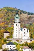 Castle and church of St. Catherine, Kremnice, Slovakia — Stock Photo