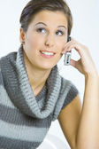 Portrait of telephoning woman — Stock Photo