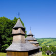Wooden church, Lukov, Slovakia - Foto Stock
