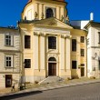 Evangelical Church, Banska Stiavnica, Slovakia - Foto Stock