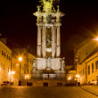 Baroque column of Saint Trinity, Saint Trinity Square, Banska St - Stock Photo