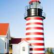 Foto de Stock  : West Quoddy Head Lighthouse, Maine, USA