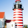 Foto Stock: West Quoddy Head Lighthouse, Maine, USA