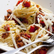 Spaghetti with minced meat — Stock Photo