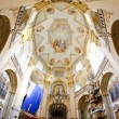 Interior of pilgrimage church, Wambierzyce, Poland - Stock Photo