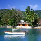 Port, La Digue, Seychelles — Stock Photo