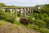 Road viaduct, Dinan, Brittany, France — Stock Photo