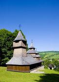 Ahşap kilise, lukov, slovakya — Stok fotoğraf