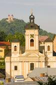Kilise, meryem ana, banska stiavnica, slovakya — Stok fotoğraf