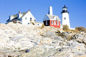 Lighthouse Pemaquid Point Light, Maine, USA — Stock Photo