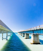 Road bridges connecting Florida Keys, Florida, USA — Stockfoto