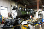 Stem locomotive depot, Colorado Railroad Museum, USA — Stock Photo