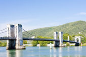 Le pont du robinet - bridge over Rhone river, Donzere, Drome Dep — Stock Photo