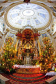 Interior of pilgrimage church, Wambierzyce, Poland — Stock Photo