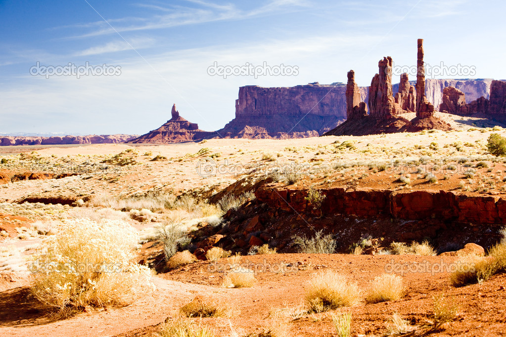 The Totem Pole, Monument Valley National Park, Utah-Arizona, USA — Stock Photo #4502843