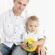 Portrait of father with his little son — Stock Photo #4589338
