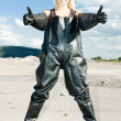 Stock Photo: Standing womwearing protective clothes