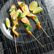 Salmon skewers — Stock Photo