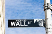 Wall Street Sign, , New York City, USA — Stock Photo