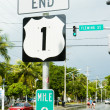 End of the road number 1, Key West, Florida, USA - Stock Photo