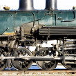 Detail of steam locomotive, Alamosa, Colorado, USA - Stock Photo