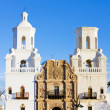 San Xavier del Bac Mission, Arizona, USA - Stock Photo