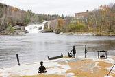 Rumford Falls, Maine, USA — Stock Photo