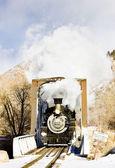 Durango and Silverton Narrow Gauge Railroad, Colorado, USA — Stock Photo