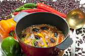 Mexican bean soup — Stock Photo