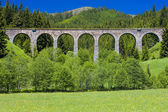 Railway viaduct near Telgart, Slovakia — Stock Photo