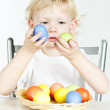 Girl with Easter eggs — Stock Photo #4618934