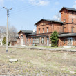 Stock Photo: Old railway station, Szczytna, Poland