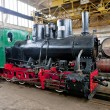 Steam locomotive in depot, Banovici, Bosnia and Hercegovina - Stock Photo
