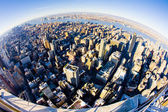 View of Manhattan from The Empire State Building, New York City, — ストック写真