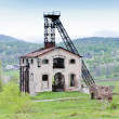 Old mining tower near Resavica, Serbia - Stock Photo